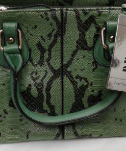 Esbag Regular hand bag, blue, faux snake skin purse, new