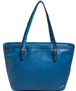 Blue ladies fashion desgner handbag