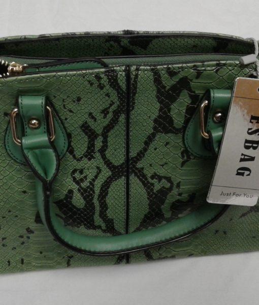 Faux skin leather handbag.