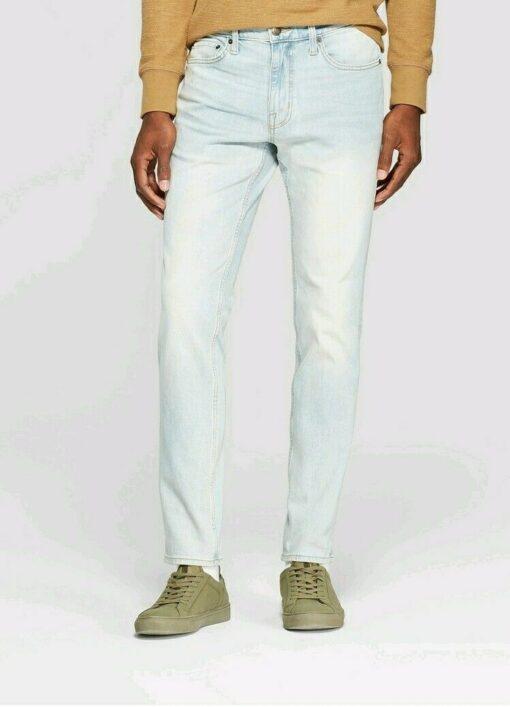 Stretch slim men blue Jeans
