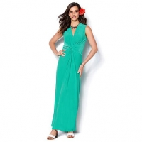 Global chic sleeveless maxi dress