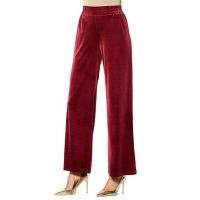 Iman global chic luxury velvet plazzo pants