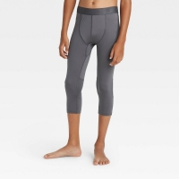 Boys' 3/4 Fitted Performance Tights All In Motion Gray Size: Medium