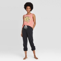 """Women's Cropped """"Tiger"""" Graphic Tank Top – Colsie Rust Size: M, Red"""