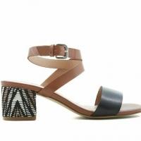 Iman Global Chic Block Heel Sandals – Color: Black