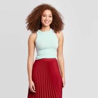 Women's Slim Fit Tank Top – A New Day Aqua XL, Blue