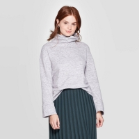 Women's Turtleneck Cozy Pullover – A New Day Gray size: L