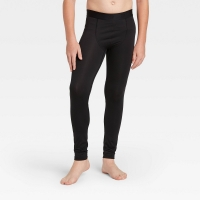 All In Motion Boys' Fitted Performance Tights Black Size Xs