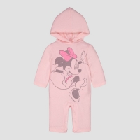 Baby Girls' Disney Minnie Hooded Coverall – Pink 0-3M