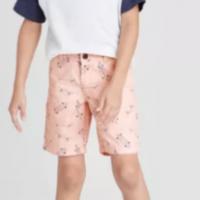 Boys' Stretch Flat Front Chino Shorts – Cat & Jack Pink 14