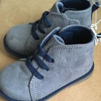 Cat & Jack Jareem Little Boys Gray Navy Blue Chukka Boots Shoes Size 8