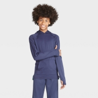 Boys' Soft Gym Pullover Hoodie – All in Motion Navy XS, Blue