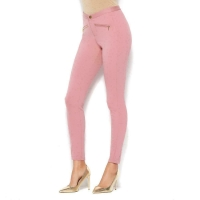 IMAN Global Chic Power Ponte Ankle Pants – 621493 – Deep Blush – 12 Long