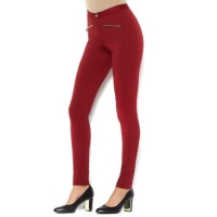 Iman global Chic Power Ponte Ankle Pant Illusion seaming Color: Sangria Size 2