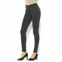 IMAN Global Chic Power Ponte Ankle Pant Illusion Seaming Heathered Grey 8
